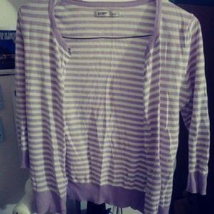 2/$15⭐ Light purple/Lavender striped Cardigan